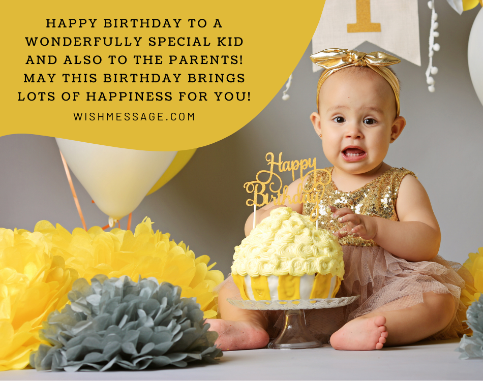 Emotional Birthday Wishes for baby girl